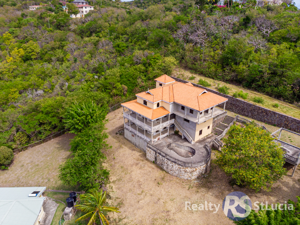 un-finished villa for sale in St Lucia